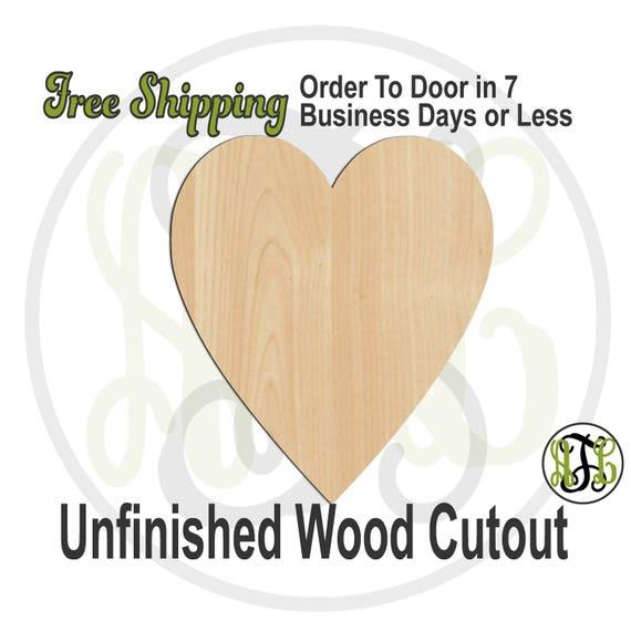 Thin Heart - 110044- Valentine Cutout, unfinished, wood cutout, wood craft, laser cut shape, wood cut out, Door Hanger, wooden, wall art