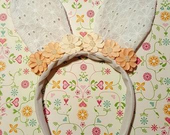 Orange lace kids bunny ears!