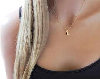 Ohm Necklace • Om • Aum Charm • Meditation Necklace • Yoga Necklace • Girlfriend Gift • Minimal Necklace [403]