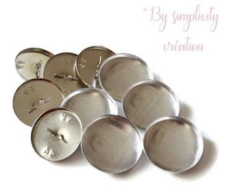 Metal buttons covered with 28mm Pack of 5 foot