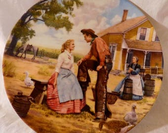 Oh What a Beautiful Mornin' by Mort Kunstler Oklahoma Collectors Plate First Issue Rodgers and Hammerstein II