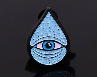 One Drop logo pin ***Glitter***