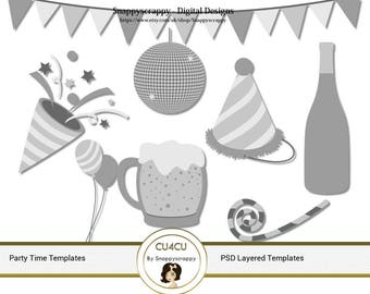 Party Celebration Photoshop Layered Templates