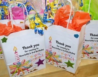Children's Patry Bags, Kid's Personalised Party Bags, Prefilled Patry Bags