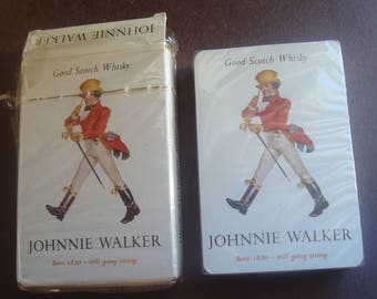 Collectible JOHNNIE WALKER Plastic Playing Card
