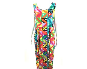 Rare Jams World Colorful Tropical Maxi Dress
