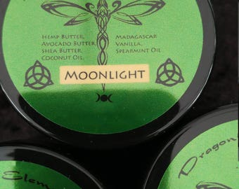 Moonlight homemade lotion made with real Madagascar Bourbon vanilla, natural plant butters and essential oils