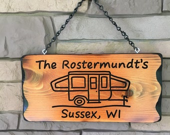Personalized Pop Up Camper Sign