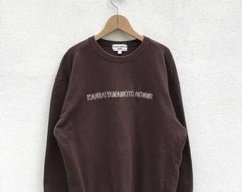 20% OFF Vintage Kansai Yamamoto Homme Sweatshirt / Kansai Yamamoto Crewneck / Japanese Brand / Designer Clothing / Kansai O2 / Kansai Eyes
