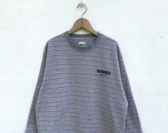 """20% OFF Vintage Vansports Embroidery Logo Striped Pullover / Vans Sport Sweater / Skater / Big Logo / Armpit 23"""""""
