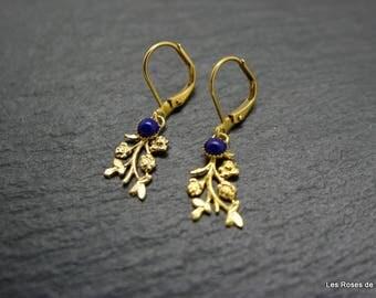 Leaf earrings gold earrings