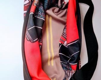 SAC-fourre-tout-a-tout-faire Montreal under red and Black - Red and Black Day Montreal Tote Bag