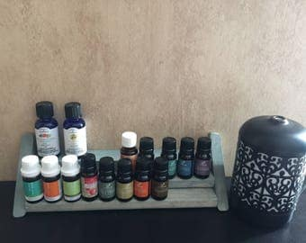 Essential oils display rack~ Holds up to 33 bottles~ Great for small spaces