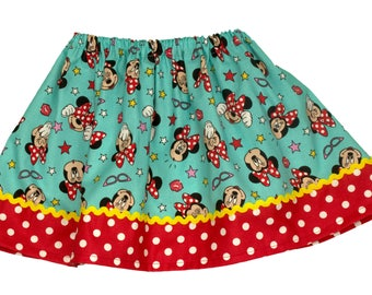 Minnie Mouse girl  birthday skirt  Minnie girl skirt Minnie Mouse girl skirt Girl skirt
