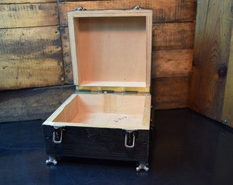 A Mans Dresser Top Keepsake Chest/ Industrial