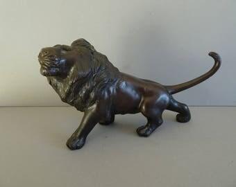 Japanese Meiji Period Bronze Figure of a Lion. Circa 1910