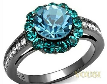Vousi Stainless Steel Engagement ring