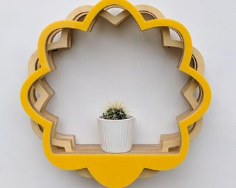 Flower Shelving - Yellow