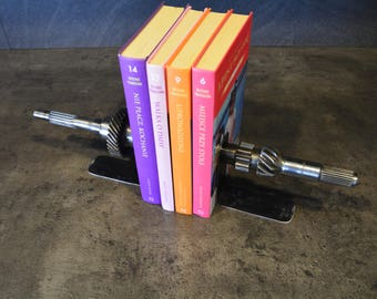 Bookends transmission gearbox Metal art . Desk - House Accessory perfect gift for Christmas - Birthday