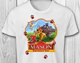 Lion Guard Iron On Transfer Image - Lion Guard Birthday Iron On Transfer - Lion Guard Birthday Shirt - Lion Guard Party
