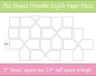12 printable basic shapes for english paper piecing 3 printable plus shaped pieces for english paper piecing epp pieces dowloadable pronofoot35fo Image collections