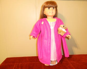 Robe and nightgown for American Girl Doll