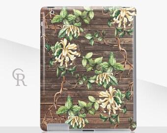 Floral iPad Case - iPad 2, iPad 3, iPad 4 and iPad Mini, iPad Air, iPad Air 2, iPad Mini 4 Snap on Case - Palm Leaves