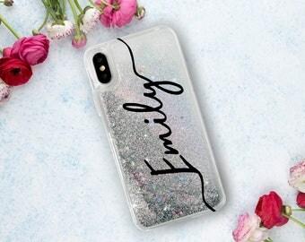Custom Name Glitter Phone Case Clear Case For iPhone 8 iPhone 8 Plus - iPhone X - iPhone 7 Plus - iPhone 6 - iPhone 6S - iPhone SE  iPhone 5