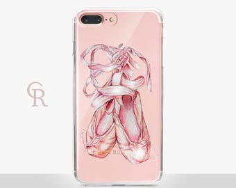 Ballet Shoe Clear Phone Case For iPhone 8 iPhone 8 Plus iPhone X Phone 7 Plus iPhone 6 iPhone 6S  iPhone SE Samsung S8 iPhone 5 Transparent