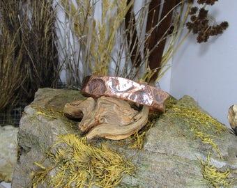 Hammered copper free shipping Bracelet BR-051