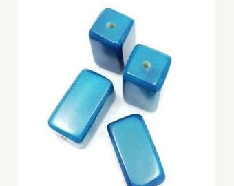 SALE 10% OFF Tagua Klotz, turquoise, 1 piece, 20mm Tagua bead, block, stone