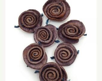SALE 15% OFF Rose, lilac, orange peel, 30-40mm, 1 piece, trailer, orange peel, pendant