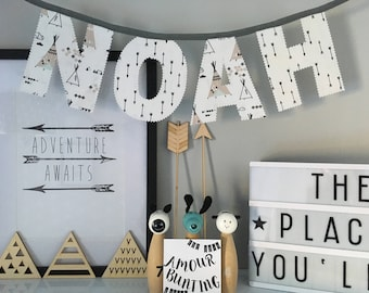 Teepee and Arrow Personalised Name Bunting