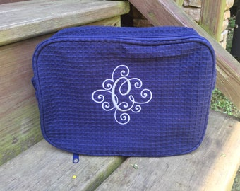 Monogram Cosmetic Bag, Personalized Makeup Bag, Monogram Makeup Bag, Bridesmaid Gift