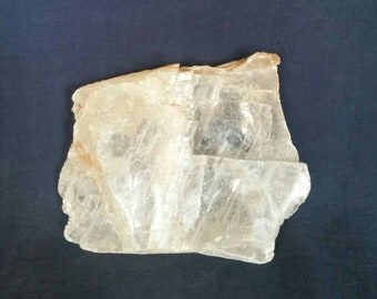 Selenite / Crystal Gemstone / Selenite Slab / Raw Crystal Quartz / Meditation Stone / Home Decor / Healing Crystal / Quartz Crystal SALE