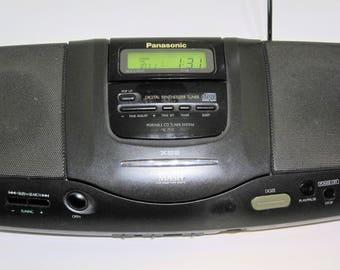 Vintage 1995 Panasonic Model SL-PH2 Portable CD Am/Fm Tuner System