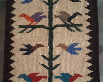 Hand Woven Mexican Tree of Life Textile