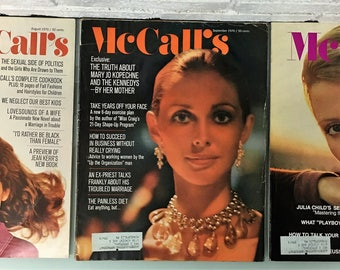 1970 McCall's Magazines Issues August - September and October