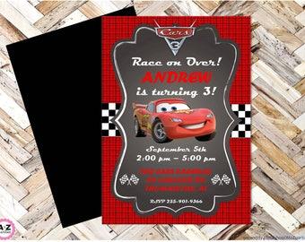 Cars 3 Editable Birthday Invitation, Lightning McQueen, Cars, Mator, Radiator Springs, Cars Birthday, 5x7 design, edit now, print to