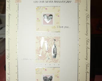 For My Darling Wife On Our Silver Anniversary Card