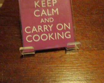 Keep Calm and Carry on Cooking Fridge Magnet
