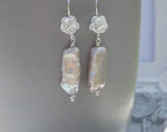 Bridal Earrings, Bridal Pearl Earrings, Pearl Earrings, Wedding Pearl Earrings, Pearl Drops