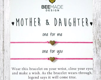 Mother Daughter Gift for mother for mom for daughter Valentines day Gift for Mom from daughter bracelet mom birthday Gifts for mother