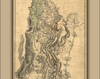 Poster, Many Sizes Available; Map Of Lake Champlain And Lake George 1777