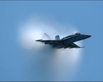 Poster, Many Sizes Available; Fa-18 Hornet F-18 Marauders (Vfa-82) Supersonic