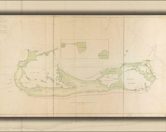 Poster, Many Sizes Available; Map Of Bermuda Islands 1760