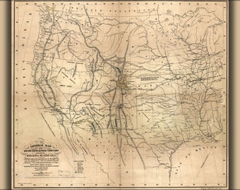 Poster, Many Sizes Available; Map Of The United States 1859