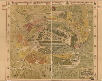 Poster, Many Sizes Available; Map Of Moscow Russia 1882 In Russian