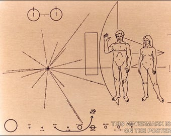 Poster, Many Sizes Available; Pioneer Probe Plaque