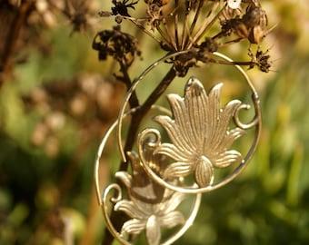Beautiful lotus earrings